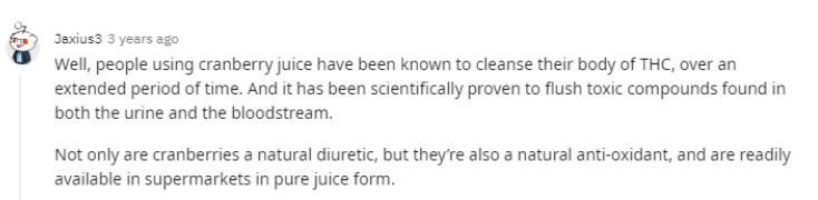 cranberry juice drug test
